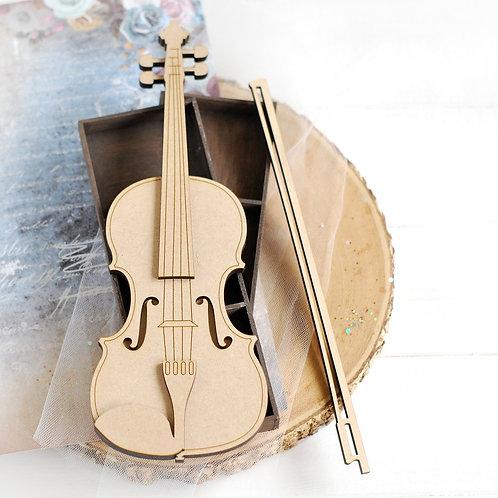 Large 2D Violin – Decorative laser cut MDF
