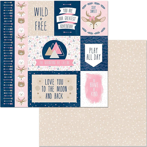 "Little Wonders Double-Sided Cardstock 12""X12"" - Victoria"