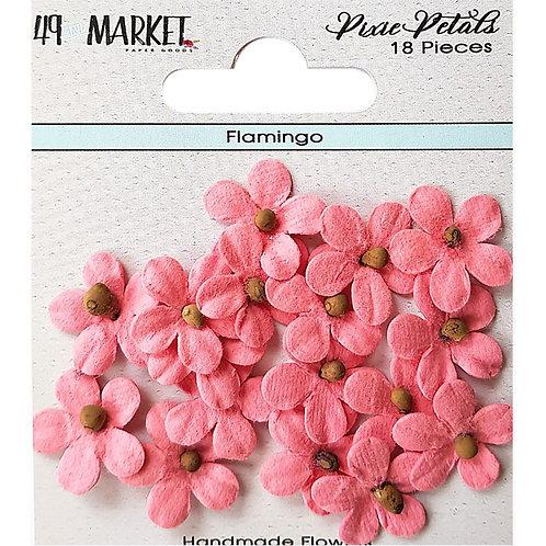 49 And Market Pixie Petals 18/Pkg Flamingo