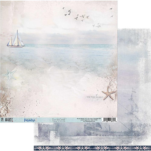 """Island Paradise Double-Sided Cardstock 12""""X12"""" Time to Coast"""