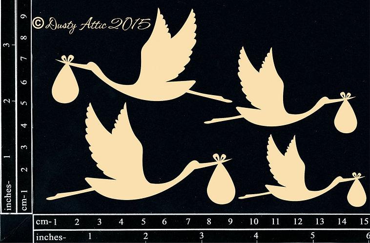 Chipboard - Storks - baby