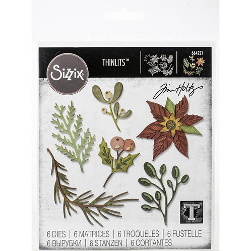 Sizzix Thinlits Dies By Tim Holtz Funky Festival Florals