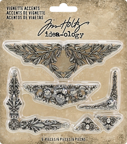 Idea-Ology Metal Vignette Accents 6/Pkg