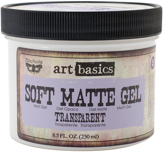 Finnabair Art Basics Soft Matte Gel 8.5oz-Transparent