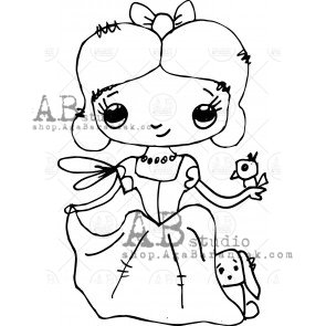Rubber stamp ID-403 TandiArt fairy AB Studio