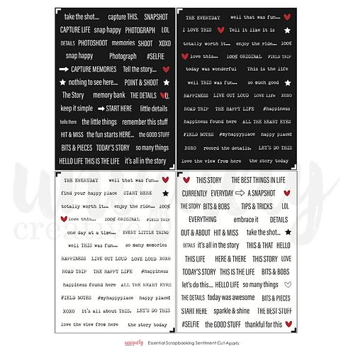 Essential Scrapbooking Sentiments Mini Cut-a-part Sheet
