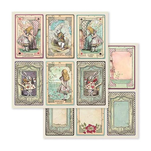 "Stamperia Double-Sided Paper 12""X12"" Alice Cards"