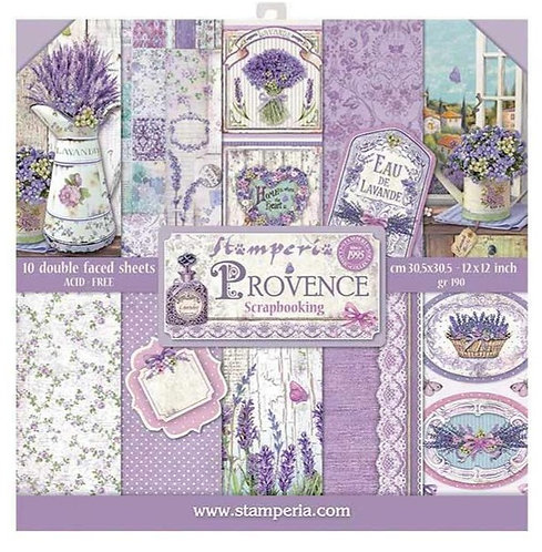 "Stamperia Double-Sided Paper Pad 12""X 12"" Provence"