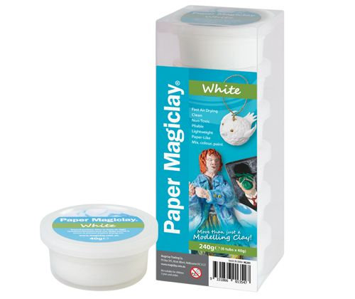 Paper Magiclay 40g White each Canister