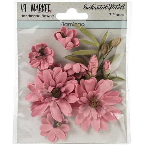 49 And Market Enchanted Petals 7/Pkg Flamingo