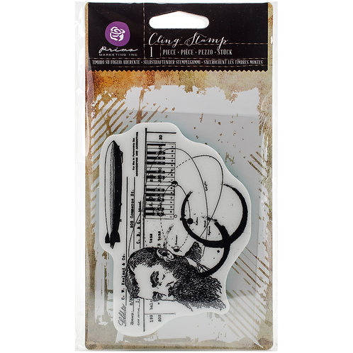 "Prima Cling Stamp 3.5""X5""-State Of Art"