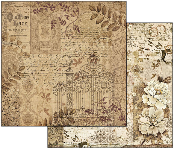 "Stamperia Double-Sided Cardstock 12""X12""-Old Lace Gate"