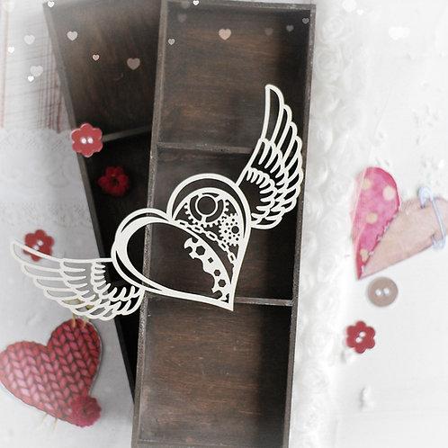 Heart 029 – Decorative laser cut chipboard