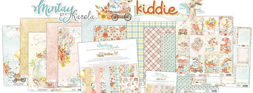 """Kiddie Mintay Scrapbook Paper Pack 12""""x 12"""""""