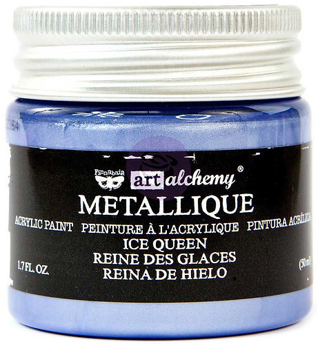 Finnabair Art Alchemy Acrylic Paint 1.7 Fluid Ounces-Metallique Ice Queen