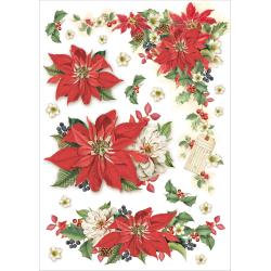 Stamperia Rice Paper Sheet A4 - Christmas Vintage Star