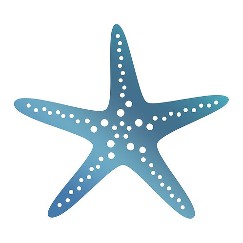 Hotfoil Stamp - SM - Starfish (1pc) - Seaside & Me
