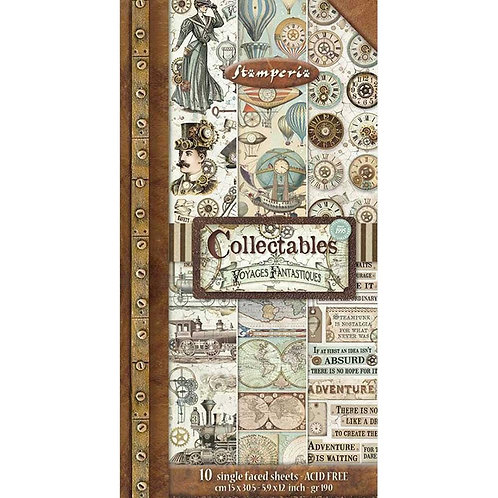 """Stamperia Collectables Single-Sided Paper 6""""X12"""" 10/Pkg Voyages"""