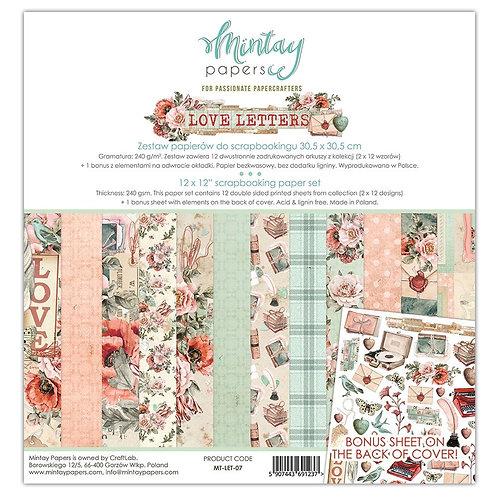 "Love Letters Mintay - 12"" x 12"" paper set"