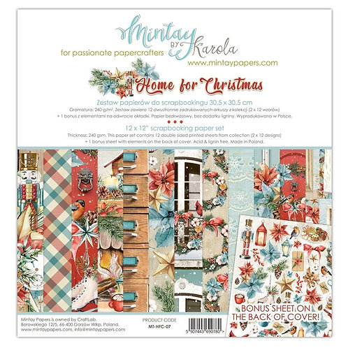 """Home for Christmas Mintay 12"""" x 12"""" paper set"""