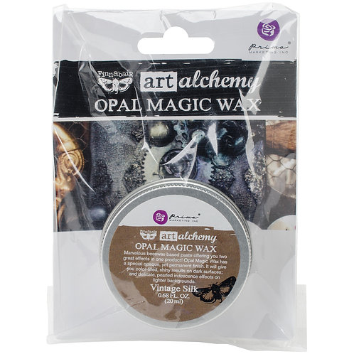 Finnabair Art Alchemy Opal Magic Wax .68 Fluid Ounce-Vintage Silk