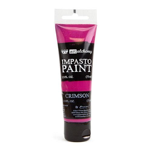 Finnabair Art Alchemy Impasto Paint 2.5 Fluid Ounces Crimson