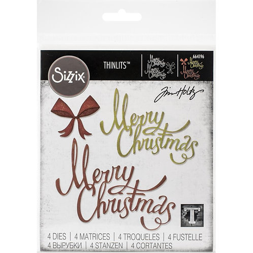 Sizzix Thinlits Dies By Tim Holtz Christmas Ribbon