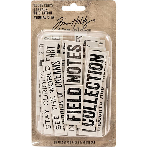 Idea-Ology Chipboard Quote Chips 58/Pkg