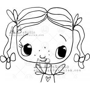 Rubber stamp ID-384 TandiArt  AB Studio