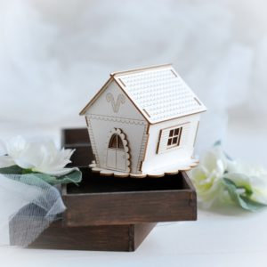 Christmas Collection 3D Gingerbread house – Decorative laser cut chipboard