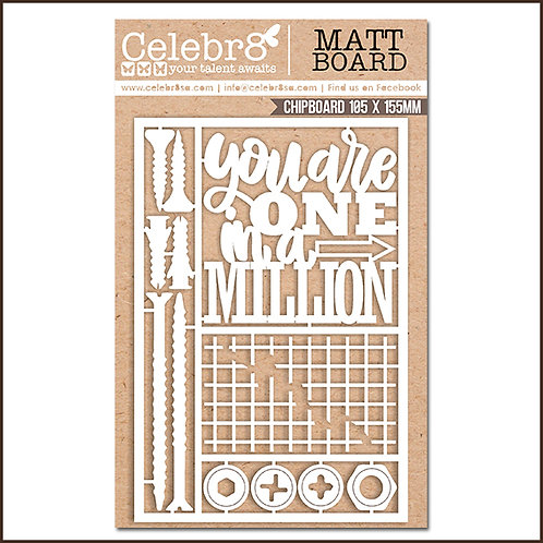 Title Chipboard Celebr8 One in a million