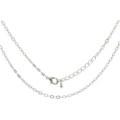 "Tim Holtz Assemblage Metal Chain - silver 18"""