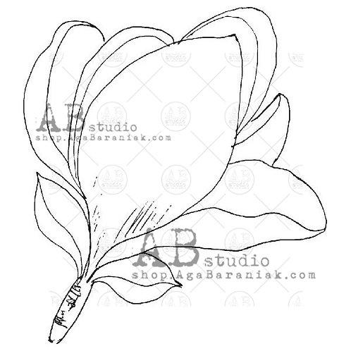 Rubber Stamp ID-103 AB Studio Flower