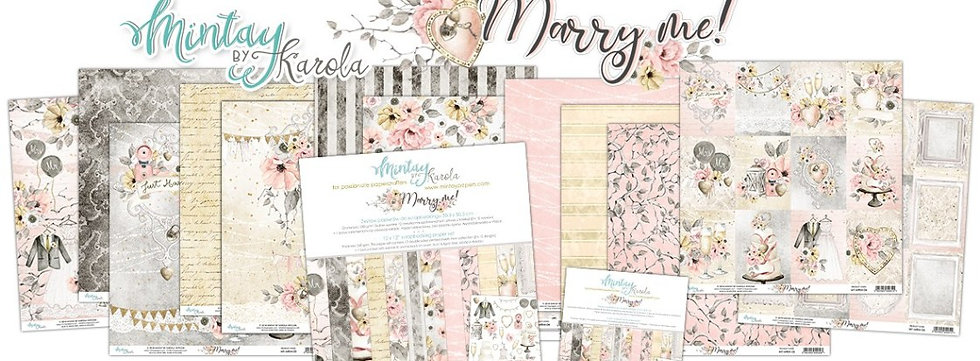 """Marry Me Mintay Scrapbook Paper pack 12"""" x 12"""""""