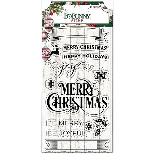 Joyful Christmas - Bo Bunny stamps