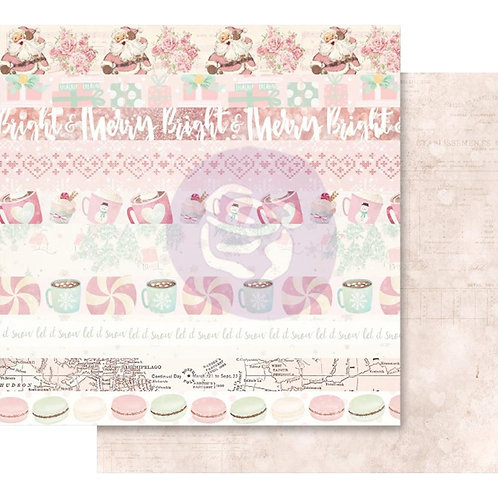 "Santa Baby Pink Foiled Double-Sided Cardstock 12""X12""-Let it Snow"