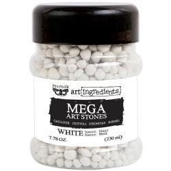 Finnabair Art Ingredients Mega Art Stones 7.78 Ounces White