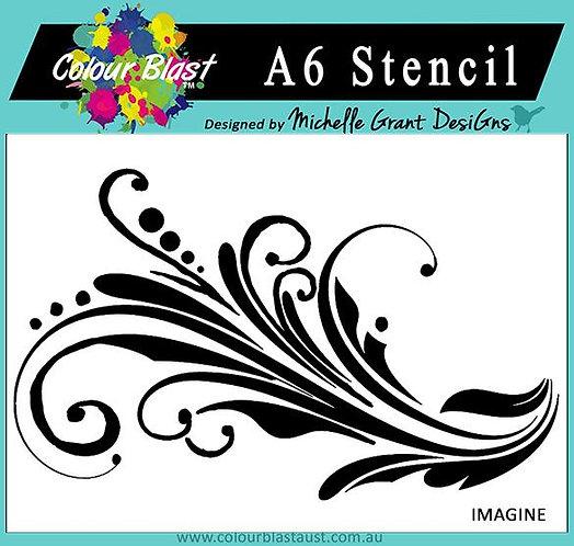 Imagine - A6 Stencil BRAND COLOUR BLAST