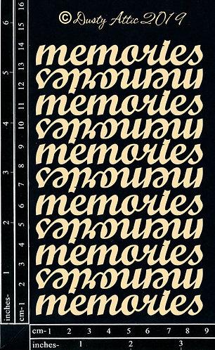 Memories - Dusty Attic Chipboard