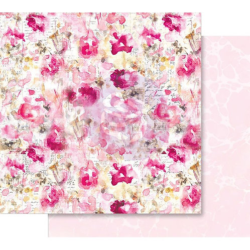 "Prima Misty Rose Foiled Double-Sided Cardstock 12""X12"" Scattered Dreams"