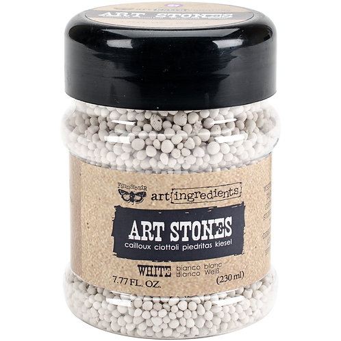 Finnabair Art Ingredients Art Stones 7.77 Ounces-White