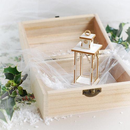 Christmas Collection 3D Lantern decorative laser cut chipboard element