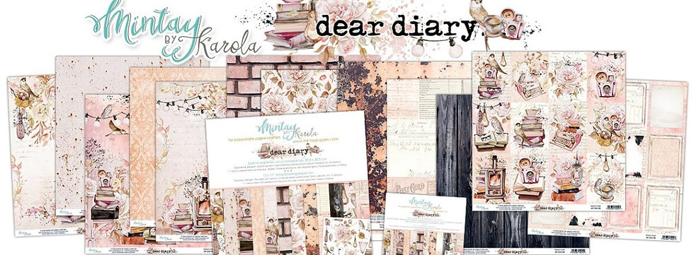 "Dear Diary Mintay Scrapbook paper pack 12"" x 12"""