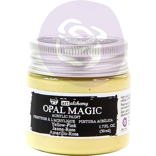 Finnabair Art Alchemy Opal Magic Acrylic Paint 1.7 Fl Oz - Yellow-Pink