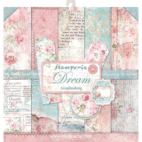 "Stamperia Double-Sided Paper Pad 12""X12"" - Dream"