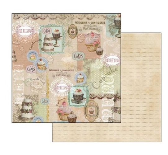 "Stamperia Double-Sided Cardstock 12""X12"" Cake"