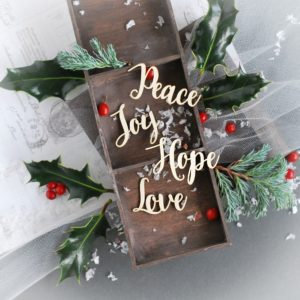 Christmas Collection – Word set 06  – Decorative laser cut chipboard