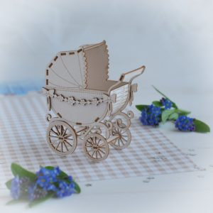 New Baby Collection 35 - Bloomar Laser cut chipboard