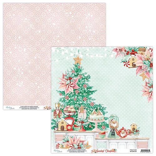 "The Sweetest Christmas Mintay 12"" x 12"" paper page"