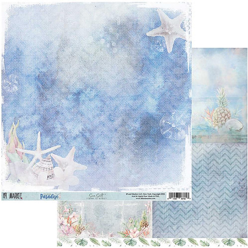 "Island Paradise Double-Sided Cardstock 12""X12"" Sea Salt"